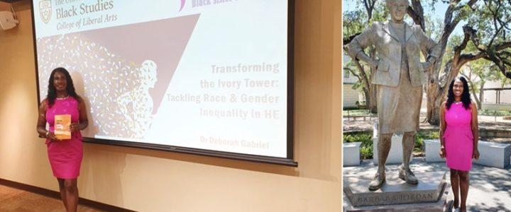 BBA Founder celebrates Ivory Tower at the University of Texas Black Studies Dept
